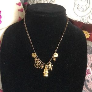 Love Heals gold charm necklace